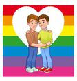 Born this way Young men loving each other vector image