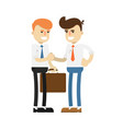 business meeting concept with smiling men vector image