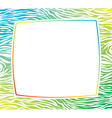 frame with zebra skin texture vector image
