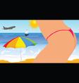 girl on the beach part four vector image