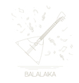 Musical instruments graphic template Balalaika vector image