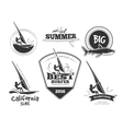 Retro surf emblems and labels set vector image
