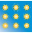 set of sun icon vector image