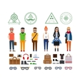 Hipster girls and boys with accessories vector image