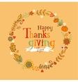 Thanksgiving festive frame vector image vector image