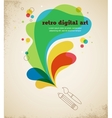 Digital art poster with splash color vector image