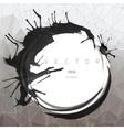 Ink drawing round frame vector image vector image