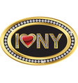 I love NY label vector image