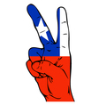Peace Sign of Chilean flag vector image