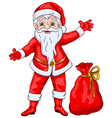 Santa Claus Wishing Christmas and New Year vector image