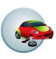 Broken car vector image