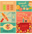 Sweet Shop Mini Posters vector image vector image