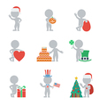 Flat people holidays vector image