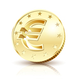 gold euro vector image vector image