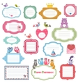 Frames and stickers with animals vector image vector image