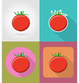 vegetables flat icons 07 vector image