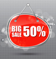 BIG SALE hanging sign vector image