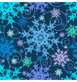 Decorative seamless pattern colorful snowflakes vector image