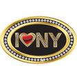 I love NY label vector image