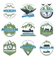 Outdoor Adventures And Tourism Colorful Logos vector image