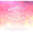 Pink bokeh background vector image