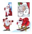 Santa Vraznykh types hurry to you vector image