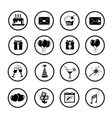 Set of celebratory icons symbols vector image