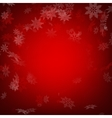 Red christmas background with snowflakes EPS 10 vector image