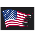 USA flag - United States of America vector image vector image