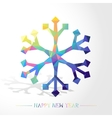 Snowflake Low Poly vector image