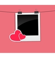 Valentines Day Photo Card with Heart vector image vector image