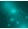 Stream of binary code to the globe vector image vector image