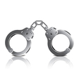Object handcuffs vector image