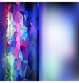 Set of abstract polygon triangles and blurred vector image