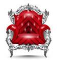 baroque armchair silver ornament vintage vector image