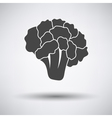 Cauliflower icon on gray background vector image