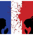 France national flag People man and woman hands vector image