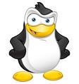 Penguin Mascot Hands On Hips vector image