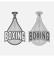 Punching Boxing Bag Labels Set vector image