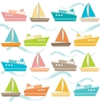 Seamless pattern with ships and waves vector image