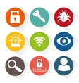 security system set icons vector image