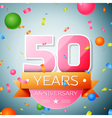 Fifty years anniversary celebration background vector image