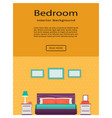 living room bedroom interior with furniture vector image vector image