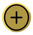 positive symbol plus sign  flat black icon vector image