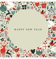 Christmas icons 2013 happy new year vector image vector image