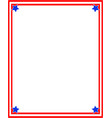 simple frame with a color flag us vector image