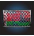 flag on old metal vector image