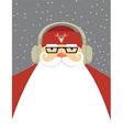 Santa dj vector image vector image