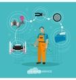 Car repair shop concept in vector image