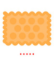 cookie icon color fill style vector image